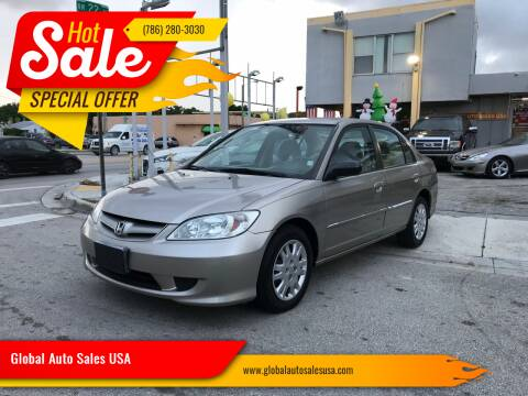 2005 Honda Civic for sale at Global Auto Sales USA in Miami FL