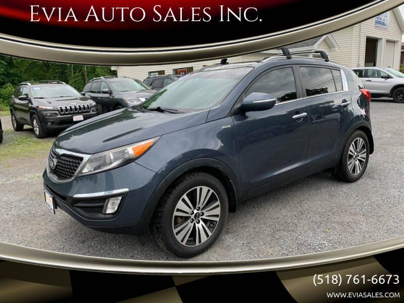 2014 Kia Sportage for sale at Evia Auto Sales Inc. in Glens Falls NY