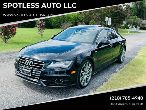 2012 Audi A7 for sale at SPOTLESS AUTO LLC in San Antonio TX