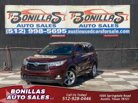2014 Toyota Highlander for sale at Bonillas Auto Sales in Austin TX