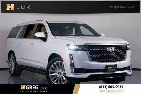 2021 Cadillac Escalade ESV for sale at HGREG LUX EXCLUSIVE MOTORCARS in Pompano Beach FL