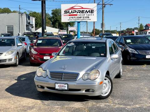 2003 Mercedes-Benz C-Class for sale at Supreme Auto Sales in Chesapeake VA