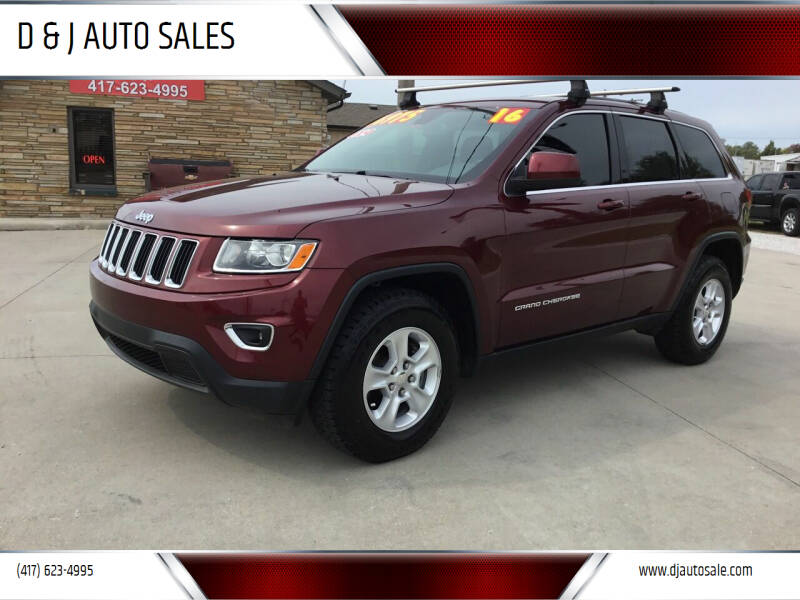 2016 Jeep Grand Cherokee for sale at D & J AUTO SALES in Joplin MO
