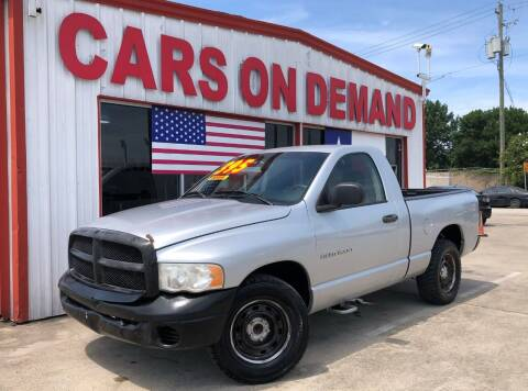 2005 Dodge Ram Pickup 1500 for sale at Cars On Demand 3 in Pasadena TX
