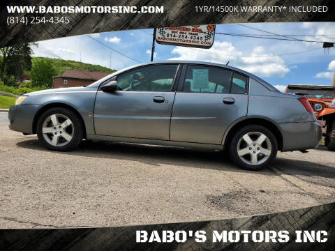 2007 Saturn Ion for sale at BABO'S MOTORS INC in Johnstown PA