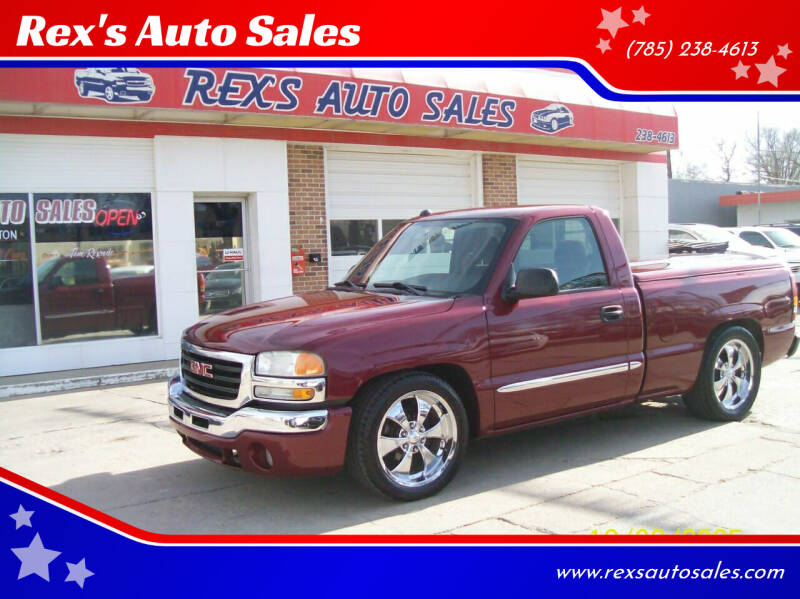 2004 GMC Sierra 1500 for sale at Rex's Auto Sales in Junction City KS