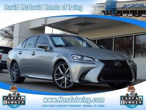 2018 Lexus GS 350 for sale at DAVID McDAVID HONDA OF IRVING in Irving TX
