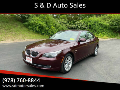2010 BMW 5 Series for sale at S & D Auto Sales in Maynard MA