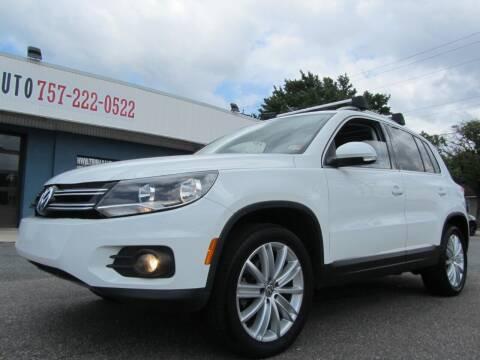 2014 Volkswagen Tiguan for sale at Trimax Auto Group in Norfolk VA