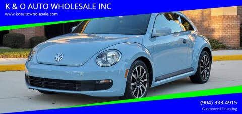 2015 Volkswagen Beetle for sale at K & O AUTO WHOLESALE INC in Jacksonville FL