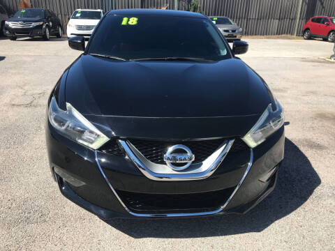2018 Nissan Maxima for sale at SOUTHWAY MOTORS in Houston TX