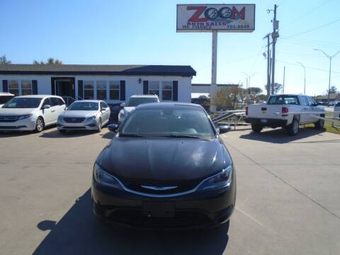 2015 Chrysler 200 for sale at Zoom Auto Sales in Oklahoma City OK