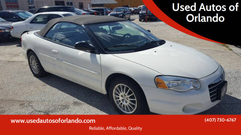 2006 Chrysler Sebring for sale at Used Autos of Orlando in Orlando FL