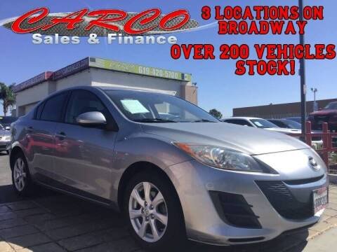 2010 Mazda MAZDA3 for sale at CARCO SALES & FINANCE in Chula Vista CA