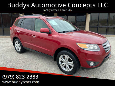 2012 Hyundai Santa Fe for sale at Buddys Automotive Concepts LLC in Bryan TX
