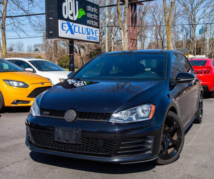 2015 Volkswagen Golf GTI for sale at EXCLUSIVE MOTORS in Virginia Beach VA