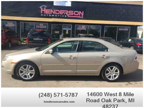 2007 Ford Fusion for sale at Henderson Automotive, LLC in Oak Park MI