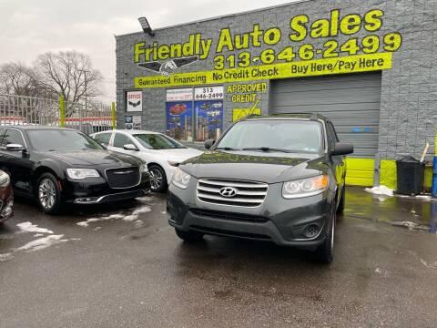 2012 Hyundai Santa Fe for sale at Friendly Auto Sales in Detroit MI