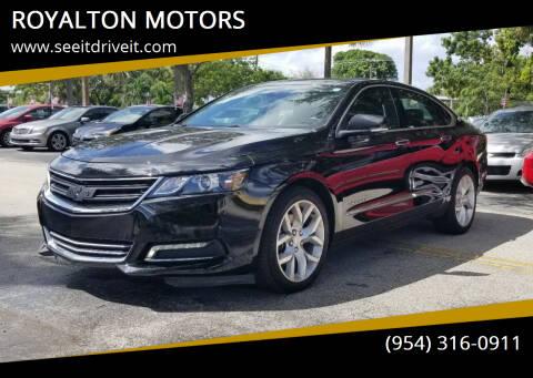 2019 Chevrolet Impala for sale at ROYALTON MOTORS in Plantation FL