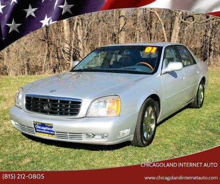 2001 Cadillac DeVille for sale at Chicagoland Internet Auto - 410 N Vine St New Lenox IL, 60451 in New Lenox IL