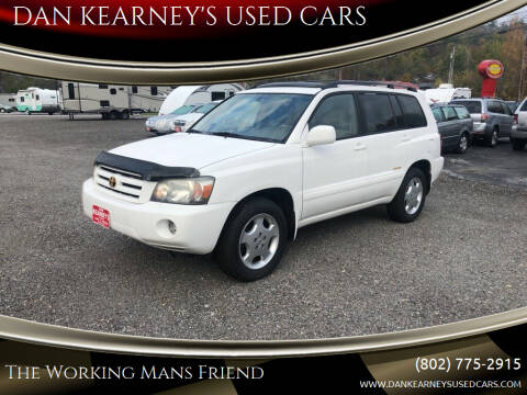 2006 Toyota Highlander for sale at DAN KEARNEY'S USED CARS in Center Rutland VT