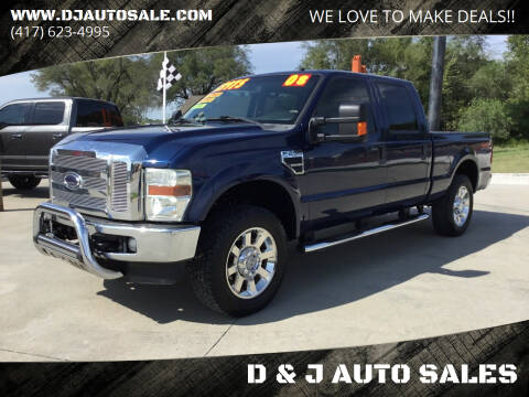 2008 Ford F-250 Super Duty for sale at D & J AUTO SALES in Joplin MO