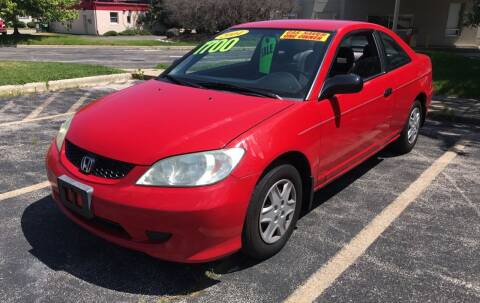 2004 Honda Civic for sale at Peak Motors in Loves Park IL