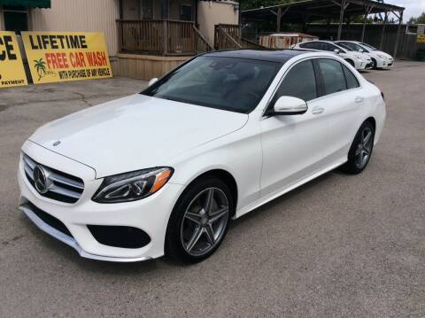 2015 Mercedes-Benz C-Class for sale at OASIS PARK & SELL in Spring TX