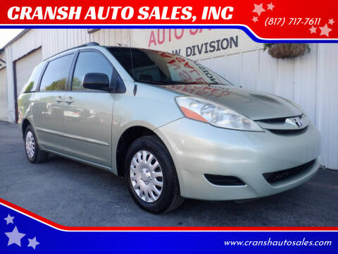 2006 Toyota Sienna for sale at CRANSH AUTO SALES, INC in Arlington TX
