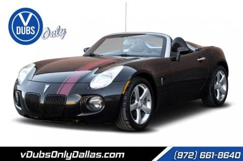 2008 Pontiac Solstice for sale at VDUBS ONLY in Dallas TX