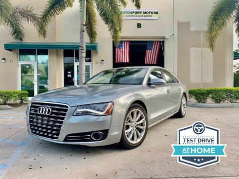 2011 Audi A8 for sale at AUTOSPORT MOTORS in Lake Park FL