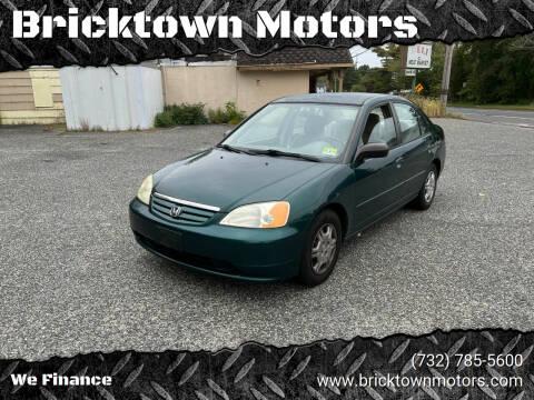 2002 Honda Civic for sale at Bricktown Motors in Brick NJ