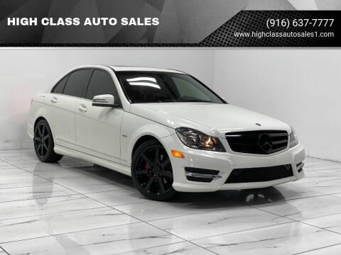 2012 Mercedes-Benz C-Class for sale at HIGH CLASS AUTO SALES in Rancho Cordova CA