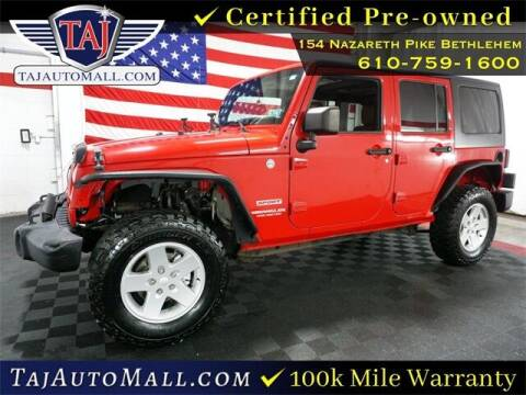 2011 Jeep Wrangler Unlimited for sale at Taj Auto Mall in Bethlehem PA