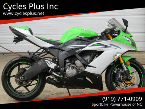 2015 Kawasaki ZX6-R 636 for sale at Cycles Plus Inc in Garner NC
