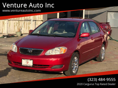 2005 Toyota Corolla for sale at Venture Auto Inc in South Gate CA