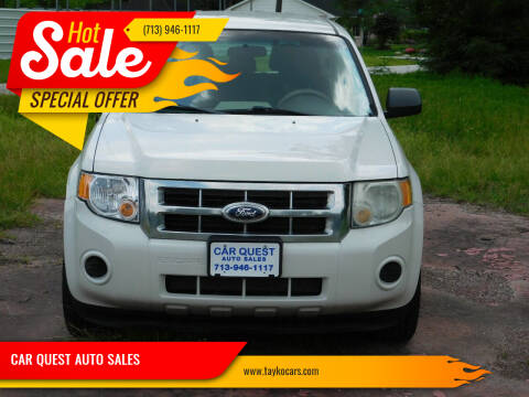 2012 Ford Escape for sale at CAR QUEST AUTO SALES in Houston TX
