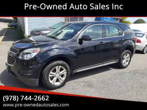 2017 Chevrolet Equinox for sale at Pre-Owned Auto Sales Inc in Salem MA