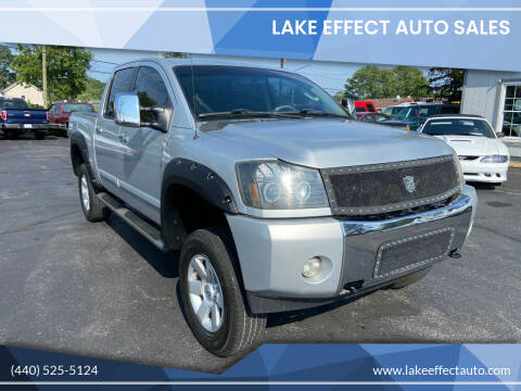 2007 Nissan Titan for sale at Lake Effect Auto Sales in Chardon OH