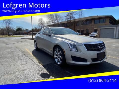 2013 Cadillac ATS for sale at Lofgren Motors in Wayzata MN