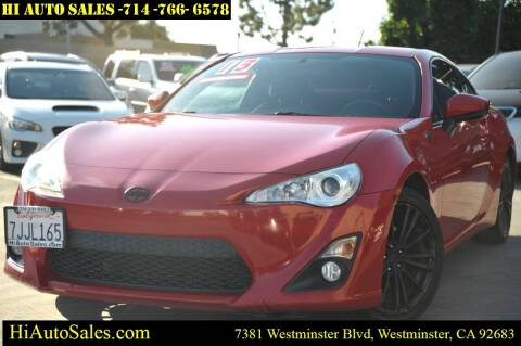 2013 Scion FR-S for sale at Hi Auto Sales in Westminster CA