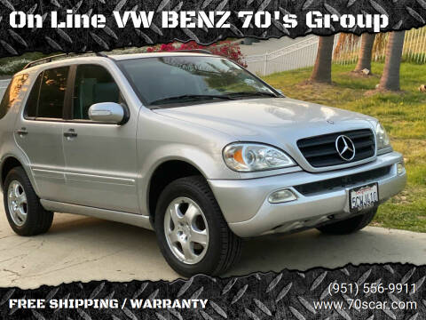 2003 Mercedes-Benz M-Class for sale at On Line VW BENZ 70's Group in Warehouse CA