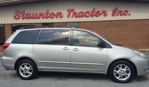 2005 Toyota Sienna for sale at STAUNTON TRACTOR INC in Staunton VA
