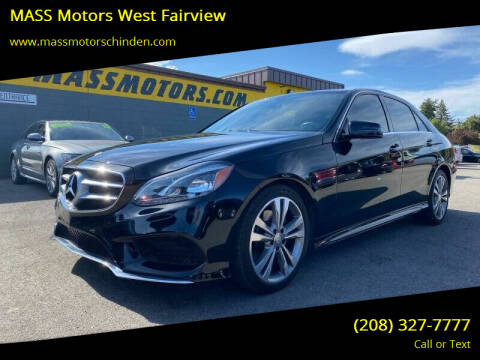 2016 Mercedes-Benz E-Class for sale at MASS Motors West Fairview in Boise ID