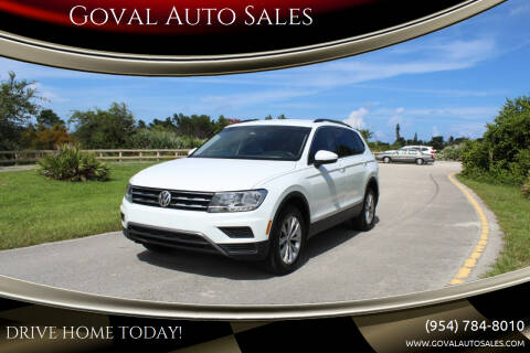 2018 Volkswagen Tiguan for sale at Goval Auto Sales in Pompano Beach FL