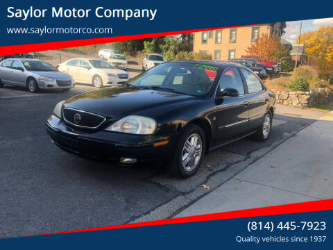 2001 Mercury Sable for sale at Saylor Motor Company in Somerset PA
