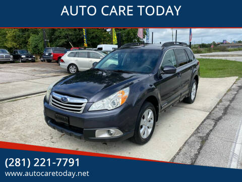 2010 Subaru Outback for sale at AUTO CARE TODAY in Spring TX
