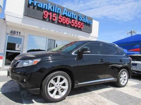 2011 Lexus RX 350 for sale at Franklin Auto Sales in El Paso TX