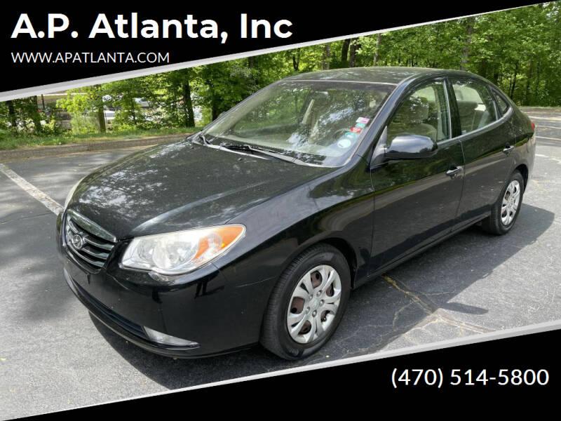 2010 Hyundai Elantra for sale at A.P. Atlanta, Inc in Sandy Springs GA