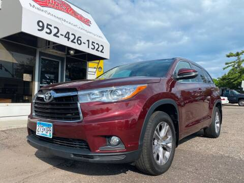 2015 Toyota Highlander for sale at Mainstreet Motor Company in Hopkins MN